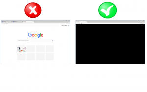 New Tab Blank Black Page - Chrome Extension